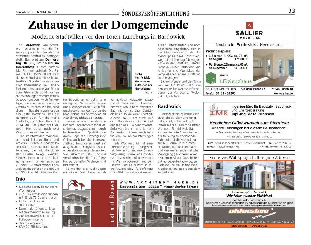 Bardowick-2Heide Stadtvillen - ohlms.de