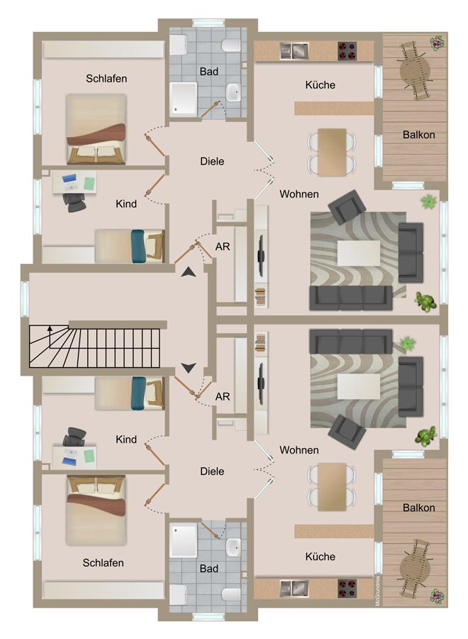 stadtvillen 2heide. Black Bedroom Furniture Sets. Home Design Ideas